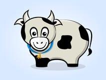 Vache avec une cloche illustration libre de droits