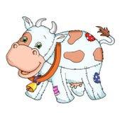 Vache de tissu Images libres de droits