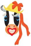 Vache drôle à dessin animé Photo libre de droits