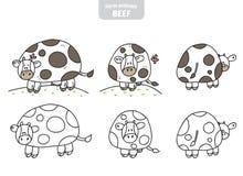 Vache drôle sur le pré illustration de vecteur