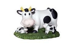 Vache et veau deux. Photographie stock