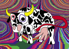 Vache folle Images stock