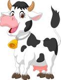 Vache heureuse à bande dessinée Images libres de droits