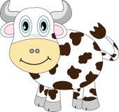 Vache heureuse mignonne Photos stock