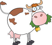 Vache laitière de dessin animé Images stock