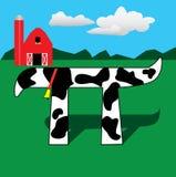 Vache pi Photo libre de droits