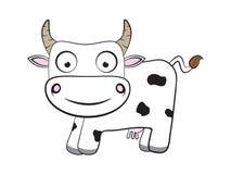 Vache plate à bande dessinée Photos stock