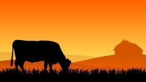 Vache sur le pâturage illustration de vecteur