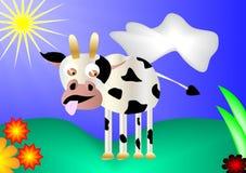Vache sur le pré Photographie stock