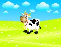 Vache sur un pré Illustration Stock