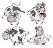 Vaches heureuses Agrafe-art cartoon Images stock