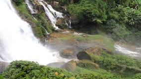 Vachirathan Waterfall, Thailand. Vachirathan Waterfall, Doi Inthanon,Chiangmai, Thailand stock footage