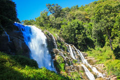Vachiratharn waterfall. In Thailand Beautiful nature background Royalty Free Stock Images