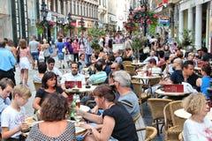 Vaci街,布达佩斯 免版税库存照片