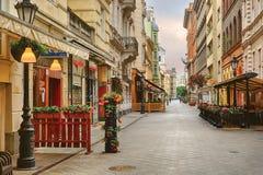 Vaci-Straße in Budapest lizenzfreies stockfoto