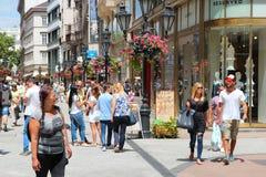 Vaci-Straße, Budapest Stockbilder