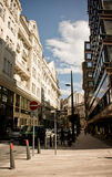 Vaci street, Budapest, Hungary. Vaci street - one of the most famous street of central Budapest, Hungary Royalty Free Stock Photo