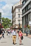 Vaci Street, Budapest Royalty Free Stock Images