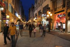 Vaci Street, Budapest royalty free stock photography