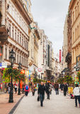 Vaci street crowded with tourists Stock Images