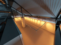 Vacie el interior de la exposición Fotografía de archivo libre de regalías