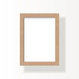 Vacie el marco de madera para la imagen A4, la foto o el texto Foto de archivo libre de regalías