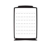 Vacie el marco negro en un fondo blanco con la lista Fotografía de archivo