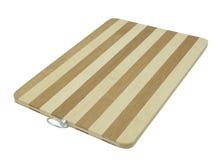Vacie el panel duro de bambú aislado en blanco Imagenes de archivo
