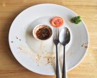 Vacie el plato acabado Fotografía de archivo
