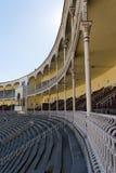 Vacie el soporte del Las Ventas Bullring Plaza de Toros de Las VE foto de archivo