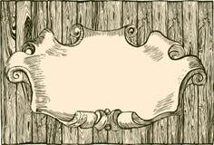 Vacie el tablón de madera ilustración del vector