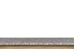Vacie el top de la tabla de la piedra del granito aislada en el fondo blanco imagen de archivo