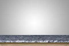Vacie el top de la tabla de la piedra del granito aislada en el fondo blanco foto de archivo
