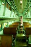 Viejo interior del carro del tren Foto de archivo