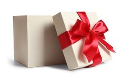 Vacie la caja de regalo abierta imágenes de archivo libres de regalías