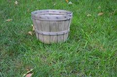 Vacie la cesta de la cosecha de la caída Imagen de archivo libre de regalías