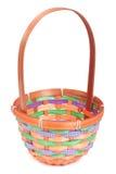 Vacie la cesta de mimbre coloreada  Fotos de archivo