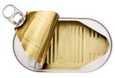Vacie la lata abierta Foto de archivo libre de regalías