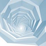 Vacie la perspectiva interior del túnel del remolino, 3d Foto de archivo libre de regalías