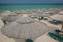 Vacie la playa Fotos de archivo