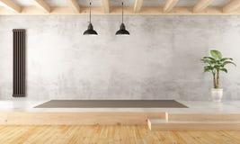Vacie la sala de estar de dos niveles Fotos de archivo