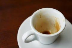 Vacie la taza de café Imagen de archivo libre de regalías
