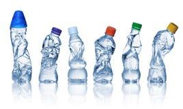 Vacie las botellas plásticas usadas Foto de archivo