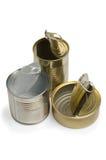 Vacie las latas abiertas Fotografía de archivo libre de regalías