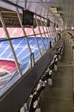 Vacie las tribunas del VIP del estadio Imagenes de archivo