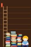 Vacie los estantes de la biblioteca libre illustration