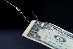 Vacilación en el efectivo - dinero Fotos de archivo