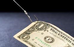 Vacilación en el efectivo - dinero Imagen de archivo
