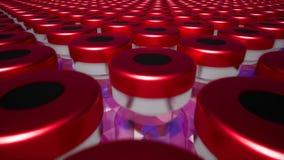 Vacinação tornando-se da medicamentação nova de vidro vermelha dos tubos de ensaio ilustração royalty free