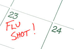Vacina contra a gripe Imagens de Stock Royalty Free